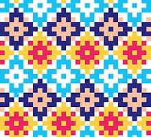 Pixel pattern 2.0 by Rebecca Collins