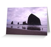 haystack rock Greeting Card