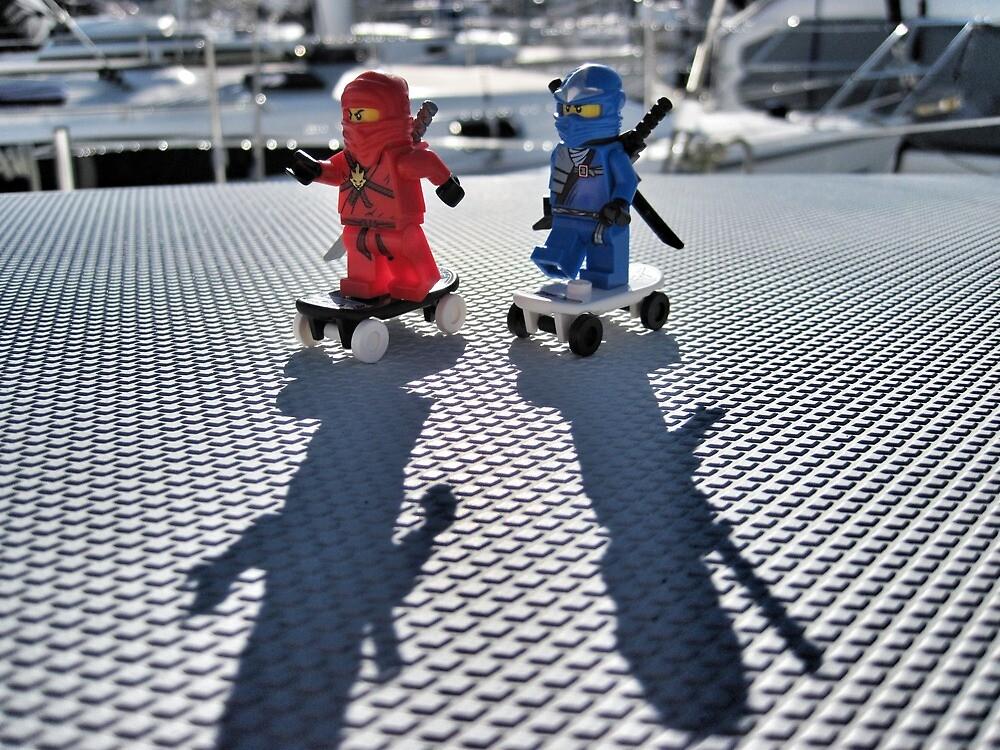 Training: ninja skateboarding by bricksailboat