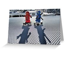 Training: ninja skateboarding Greeting Card