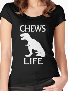 Chews Life Women's Fitted Scoop T-Shirt