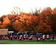 "Autumn Football with ""Dry Brush"" Effect Photographic Print"
