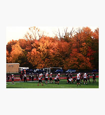 """Autumn Football with """"Dry Brush"""" Effect Photographic Print"""