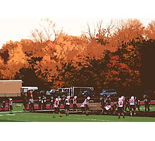 "Autumn Football with ""Cutout"" Effect Photographic Print"