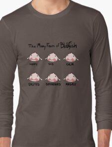 The Many Faces of Blobfish Long Sleeve T-Shirt