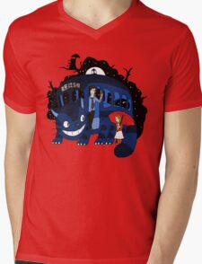 Bus Stop in Time Mens V-Neck T-Shirt