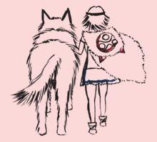 Princess Mononoke and Moro no Kimi One Piece - Short Sleeve