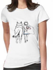 Princess Mononoke and Moro no Kimi Womens Fitted T-Shirt