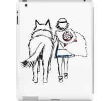 Princess Mononoke and Moro no Kimi iPad Case/Skin