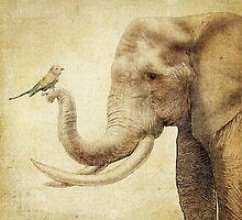 A New Friend (sepia) by Eric Fan