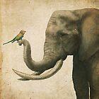 A New Friend (colour option) by Eric Fan