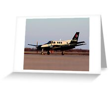 Evening King Air Greeting Card