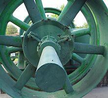 Green Wheel by WildestArt