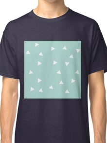 Blue and White Triangle Pattern Classic T-Shirt
