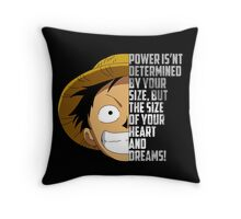 Luffy Quote Throw Pillow