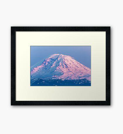 Sunset Reflections on Mount Rainier Framed Print