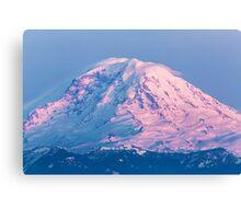 Sunset Reflections on Mount Rainier Canvas Print