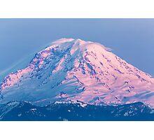 Sunset Reflections on Mount Rainier Photographic Print