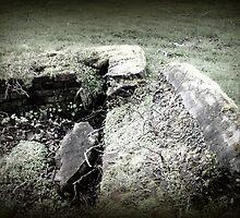 ruins of a brick foundation, Ft Stevens by Dawna Morton