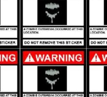 Zombie Warning Sticker