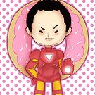 Little Tony Stark + Donut by Depraved