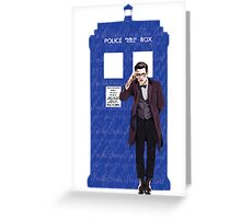 The Doctor and TARDIS Greeting Card