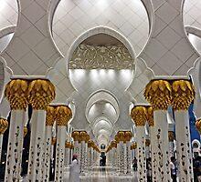 Zayed Grand Mosque Corridor by Omar Dakhane