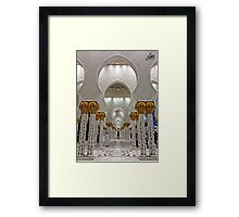Zayed Grand Mosque Corridor Framed Print