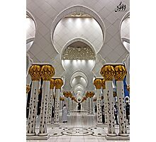 Zayed Grand Mosque Corridor Photographic Print