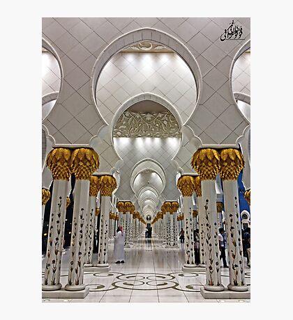 Zayed Grand Mosque Corridor Photographic Print
