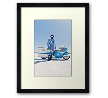 Brett de Stoop and his Suzuki GT 750 Framed Print
