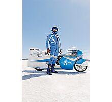 Brett de Stoop and his Suzuki GT 750 Photographic Print