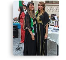Algerian Traditional Fashion Canvas Print