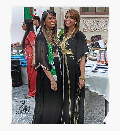 Algerian Traditional Fashion Poster