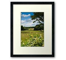 English Country Landscape Framed Print