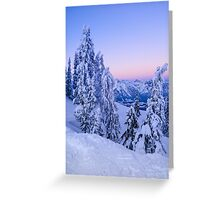 Evening Snowscape Greeting Card