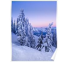 Evening Snowscape Poster
