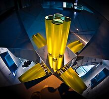 Abstract 3d shapes Yellow Cones  by PhotoStock-Isra
