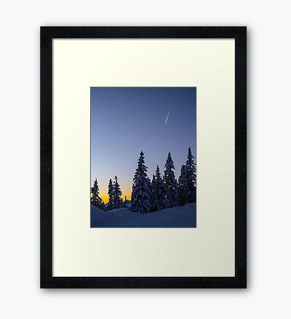 Alpine Evening Snowscape Framed Print