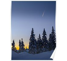 Alpine Evening Snowscape Poster