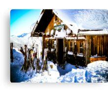 Ski Hutte Canvas Print