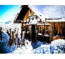 Ski Hutte Photographic Print