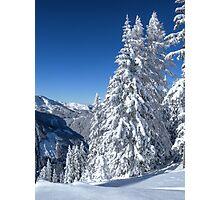 Alpine Mountain Snowscape Photographic Print