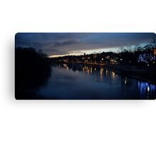 River Dee as night falls Canvas Print