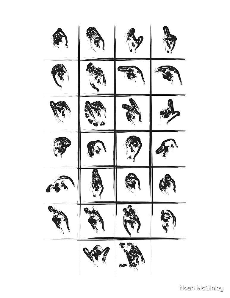 A to Z // Black on White by schiggityschway
