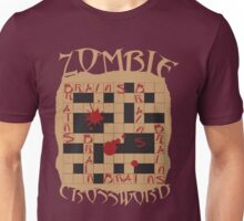 Zombie Crossword Puzzle Unisex T-Shirt