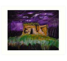 'Kilpeck Castle, Herefordshire' Art Print