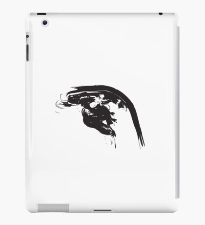 H // Black on White iPad Case/Skin