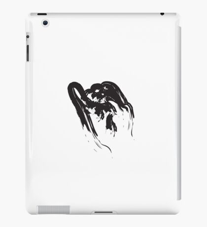 I // Black on White iPad Case/Skin