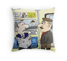 Metro Limousine Comique Throw Pillow